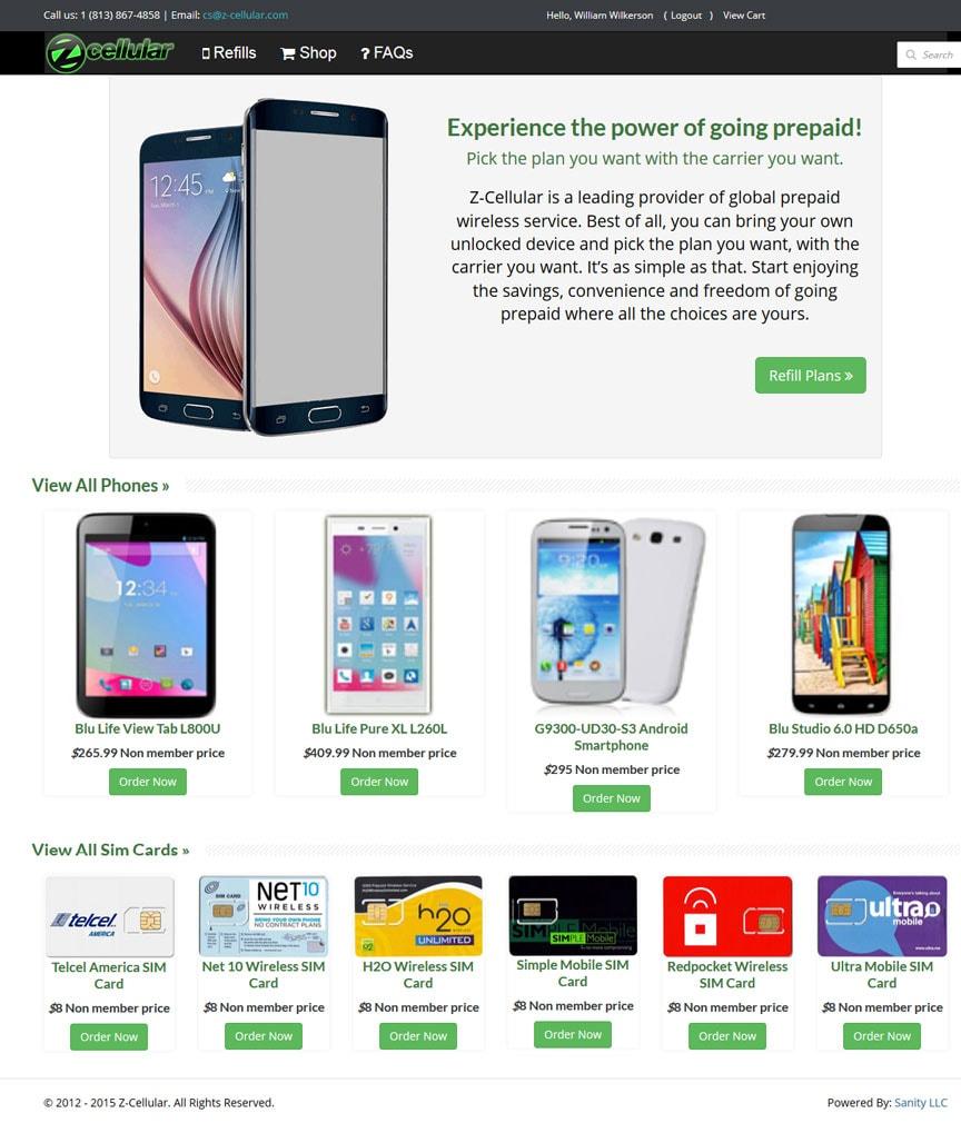 Z Cellular Prepaid Cellular